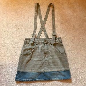 Guess Colorblock Denim Overall Skirt